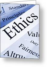 Ethics Concept Greeting Card