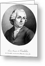 Etienne Bonnot De Condillac(1715-1780) Greeting Card