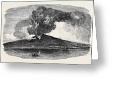 Etna In Eruption Greeting Card