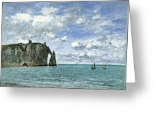 Etretat. The Cliff Of Aval Greeting Card