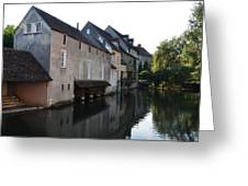 Eure River And Old Fulling Mills In Chartres Greeting Card