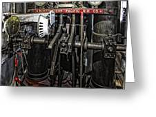 Eureka Ferry Steam Engine Controls - San Francisco Greeting Card