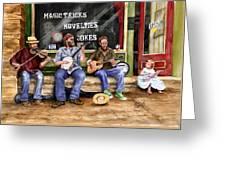 Eureka Springs Novelty Shop String Quartet Greeting Card