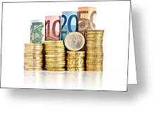 Euro Currency Greeting Card
