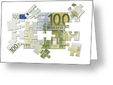 Euro Puzzle Greeting Card