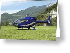Eurocopter Ec130 Light Utility Greeting Card