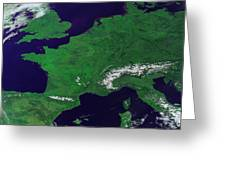 Europe From Above Greeting Card