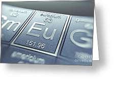 Europium Chemical Element Greeting Card