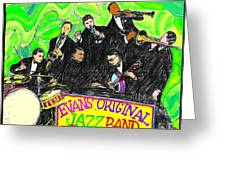 Evans Original Jazz Band Greeting Card