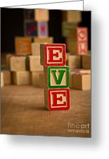 Eve - Alphabet Blocks Greeting Card
