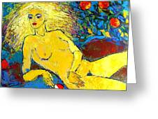 Eve/ Red Apple Of Temptation Greeting Card
