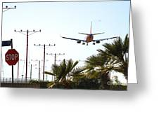 Even Airplanes Obey Traffic Signs Greeting Card