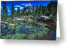 Evening At Cathedral Lakes Greeting Card