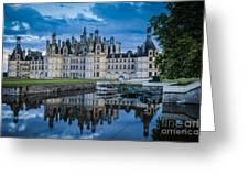 Evening At Chateau Chambord Greeting Card