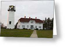 Evening At Chatham  Lighthouse Greeting Card