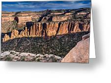 Evening At Colorado National Monument Greeting Card