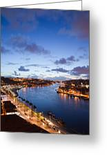 Evening At Douro River In Portugal Greeting Card