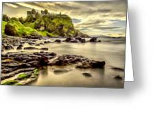 Evening At Dunluce Castle Greeting Card