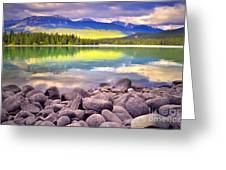 Evening At Lake Annette Greeting Card