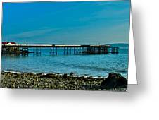 Evening At Mumbles Pier Greeting Card