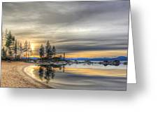 Evening At Sand Harbor Greeting Card