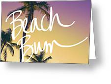 Evening Beach Bum Greeting Card