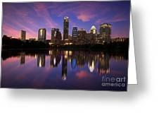 Evening Blue Austin Greeting Card