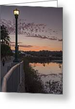 Evening By The River Greeting Card