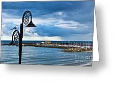 Evening Calm At Lyme Regis Greeting Card