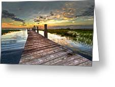 Evening Dock Greeting Card
