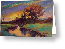 Evening Embers Greeting Card