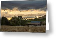 Evening Farm Scene Near Ashland Greeting Card
