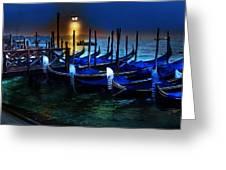 Evening Gondola Greeting Card
