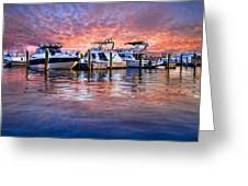 Evening Harbor Greeting Card