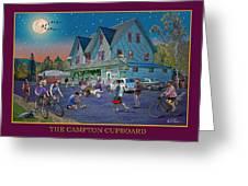 Evening In Campton Village Greeting Card