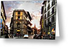 Evening In Florence Greeting Card
