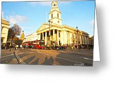 Evening In London Greeting Card