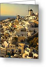 evening in Oia Greeting Card