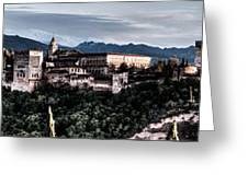 Evening In The Alhambra Greeting Card