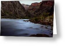 Evening In The Canyon Greeting Card