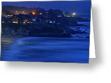 Evening In The Coastside Community Of Montara Greeting Card