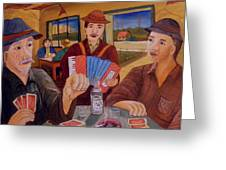 Evening In The Pub Greeting Card
