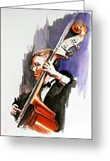 Evening Jazz Greeting Card