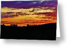 Evening Landscape Greeting Card