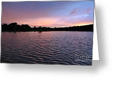 Evening Light Amazon River Greeting Card