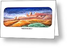 Evening Light Ghost Ranch Greeting Card