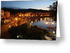 Evening Light In Collioure Greeting Card