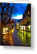 Evening Light On Lord Street Greeting Card