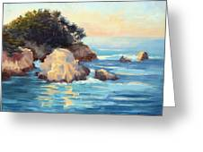 Evening Light Point Lobos Greeting Card