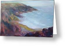 Evening Light On The Oregon Coast - Original Impressionist Oil Painting - Plein Air Greeting Card